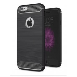 Apple iPhone 6/6S - Housse en silicone carbone noir