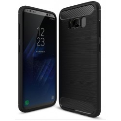 Samsung S8+ G955F - Housse en silicone carbone noir