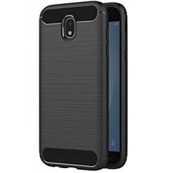 Samsung J3 2017 J330F - Housse en silicone carbone noir