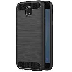 Samsung J7 2017 J730F - Housse en silicone carbone noir