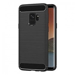 Samsung S9 G960F - Housse en silicone carbone noir