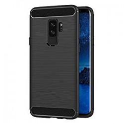 Samsung S9+ G965F - Housse en silicone carbone noir