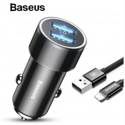 BASEUS DUAL-USB 3.4A QUICK CHARGE FOR APPLE