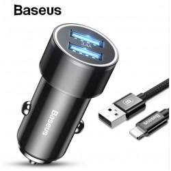 BASEUS DUAL-USB 3.4A QUICK CHARGE USB-C