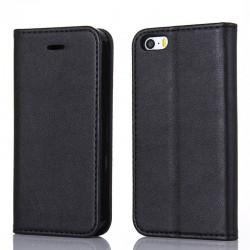Apple iPhone XR Housse à clapet magnétique en cuir - Noir