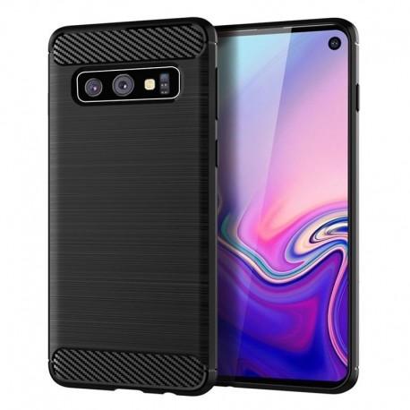 Samsung S10 G973F - Housse en silicone carbone noir