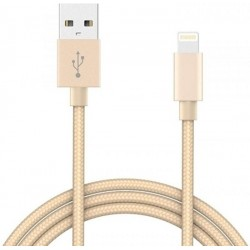 CABLE DE CHARGE - DATA LIGHTNING GOLD 1M