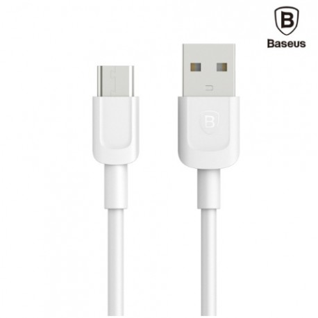 Baseus cable data, charge USB Type C 1M Blanc