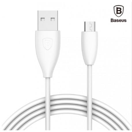 BASEUS cable data, charge USB-MICRO USB 1M Blanc